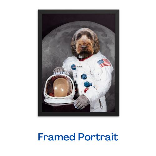 The Astronaut - Framed Portrait (Black)