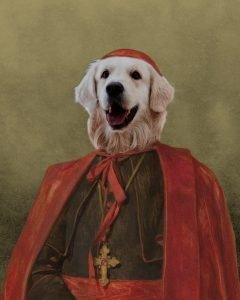 The Cardinal - Dog- Cute Pet Portrait