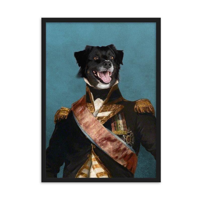The Admiral - Cute Pet Portrait - Military Theme Pet Portrait - Custom Pet Portrait