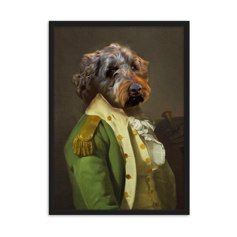 The Bachelor - Cute Pet Portrait - Custom Pet Portrait