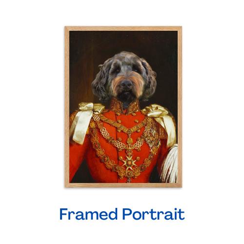 The Duke - Framed Portrait (Oak)