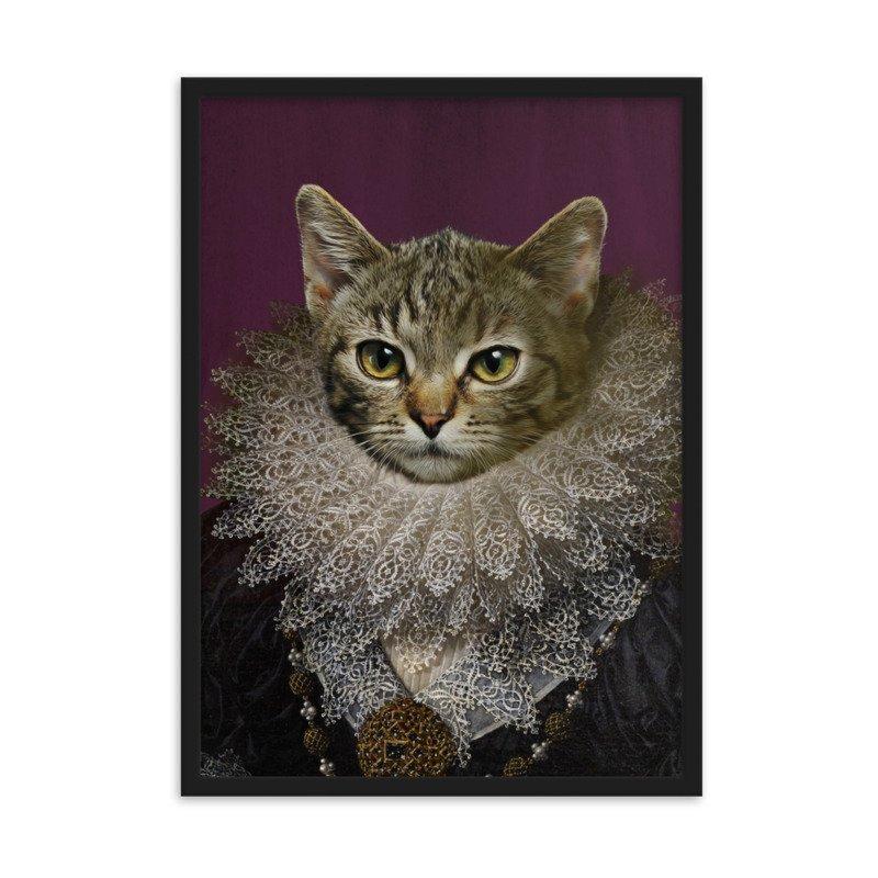 The Queen - Female Pet Portrait - Cute Pet Portrait - Custom Pet Portrait
