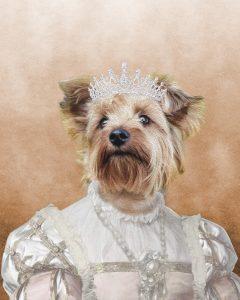 The Princess - Dog - Cute Pet Portrait