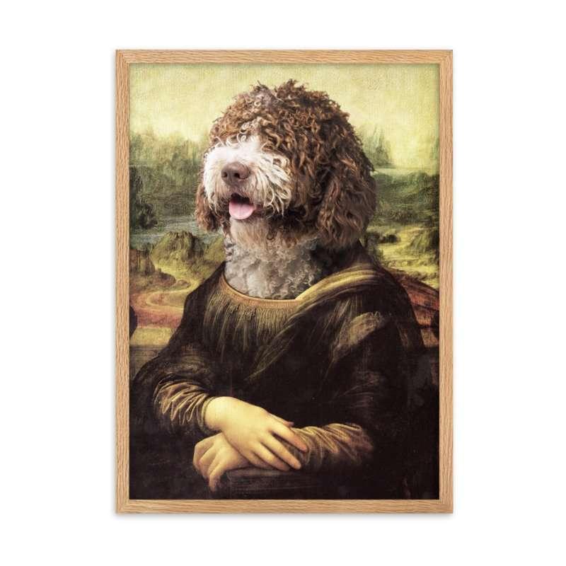 The Mona Lisa - Cute Pet Portrait - Custom Pet Portrait - Female Pet Portrait