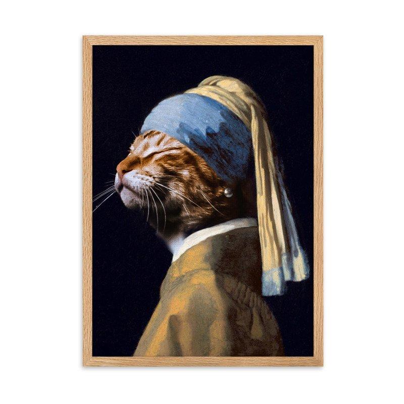 Custom Cat Portrait - Cute Pet Portrait - The Pretty Girl