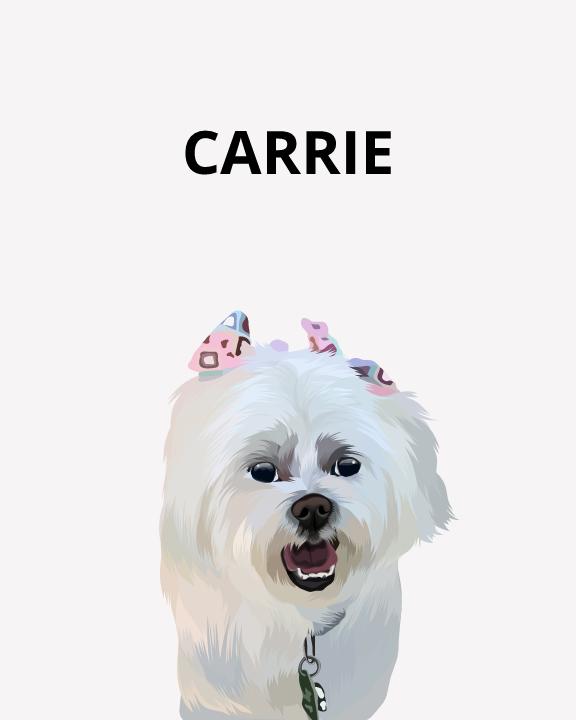 Cute Pet Portrait - Cartoon Pet Portrait