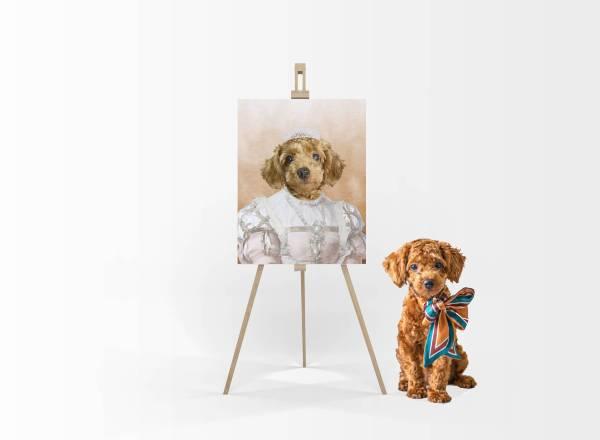 Cute Pet Portrait - Custom Pet Portraits - Princess Pet Portrait